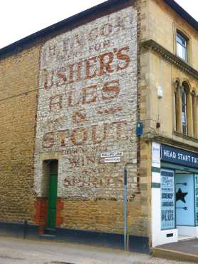 Richard Jefferies Old Town walk part 2 -Ghost sign in Old Town Swindon