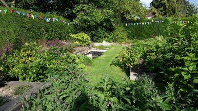 Pond in secret garden