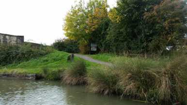 Approach back - tow path