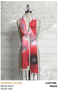 Poppies on scarf