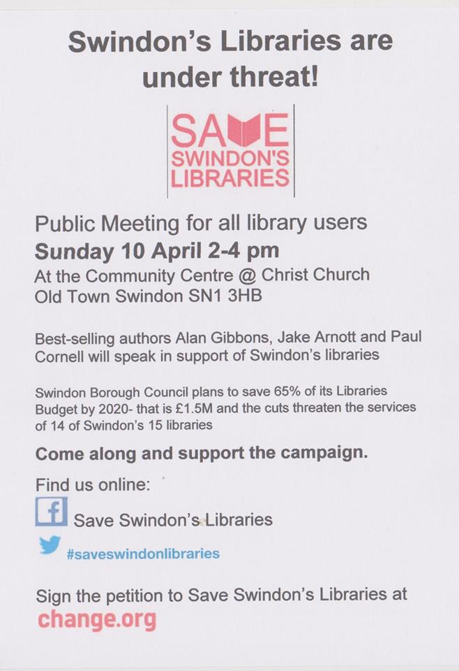 flyer meeting about libraries
