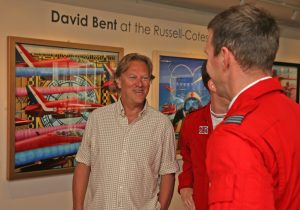 David Bent chats to member of Red Arrows