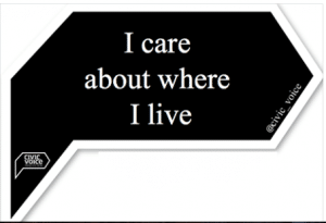 I care about where I live civic voice