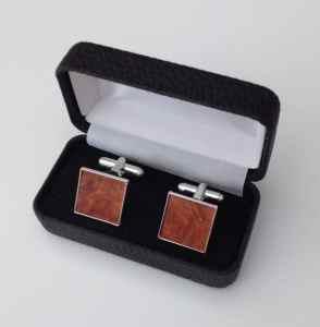 Plain square cufflinks