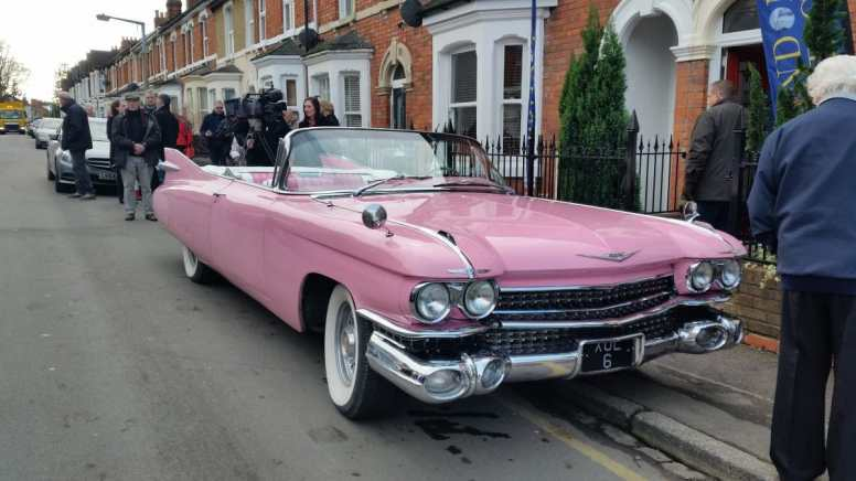 Front view of cadillac