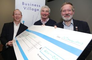 BV cheque presentation at business village