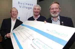 BV cheque presentation at business village