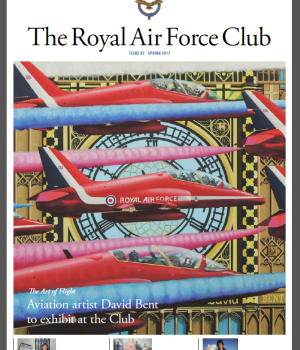 Art of Flight RAF club - David Bent at RAF club