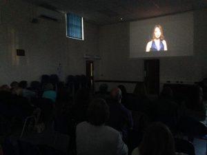 audience watching La La Land