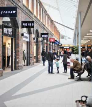 Inside the outlet centre - swindon shopping