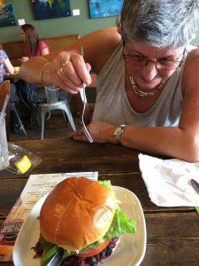 the core vegetarian burger