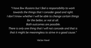 Václav Havel quote