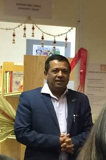 Pradeep, Swindon Hindu temple chairman