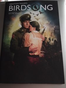 front cover of Birdsong programme - birdsong at the wyvern