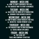 Week one classes pop-up business school