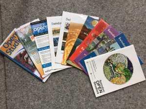 Selection of Swindon Open Studios brochures