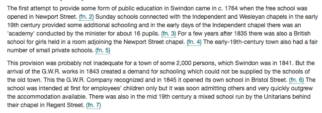 Swindon education