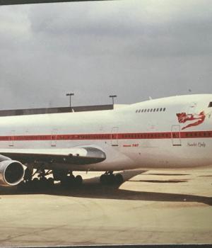 Ken White famed Red Lady emblem for Virgin Atlantic