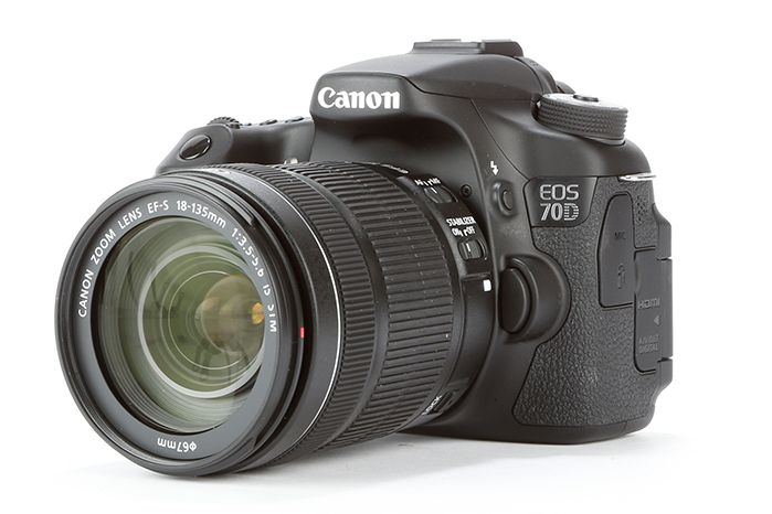A typical DSLR camera
