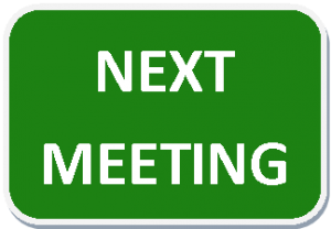 Next Meeting Wednesday 1st February 2017