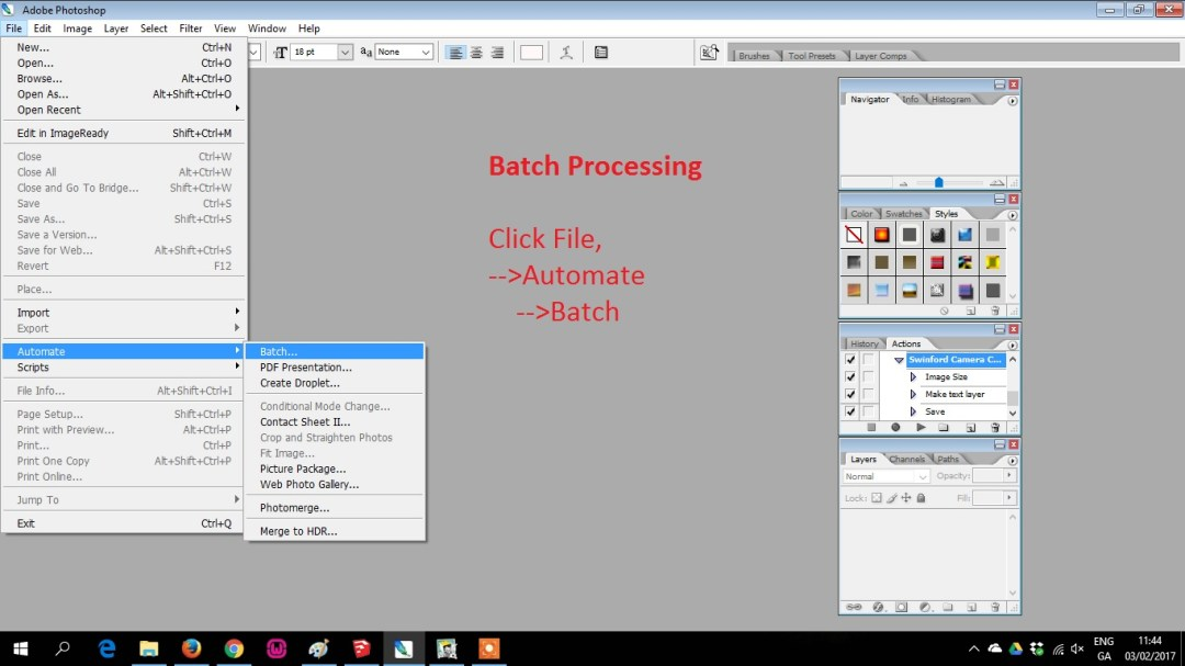batch processing adding watermark