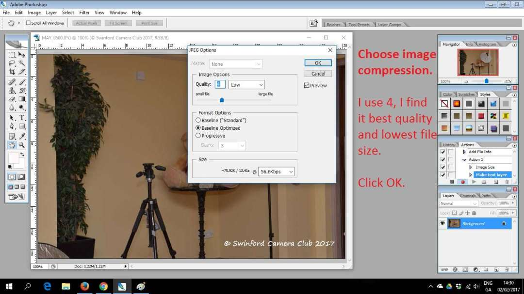create a new watermark action in photoshop cs2