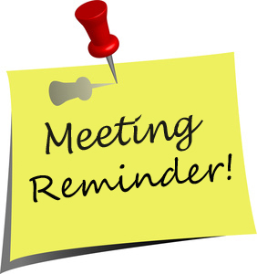 Next Meeting Wednesday 3rd May