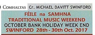Feile Na Samhna Swinford October 28th-30th