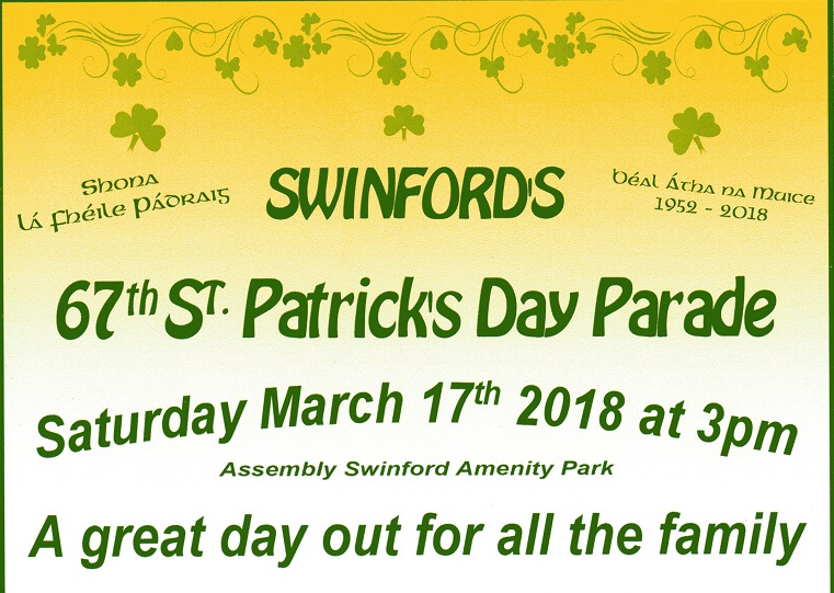 67th Swinford St Patrick's Day Parade