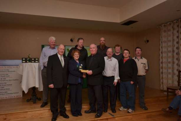 Some of Swinford Tidy Towns Committee receiving 1st prize for St Patrick's Day parade 2013