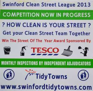 Swinford Clean Street League 2013 Poster