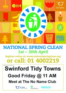 Swinford Tidy Towns National Spring Clean Poster