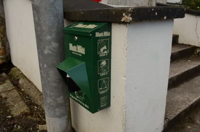 Dispenser at No Name Club Chapel Street Swinford
