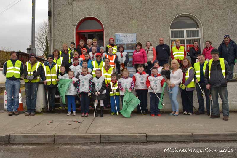 Swinford tidy towns spring clean 2015