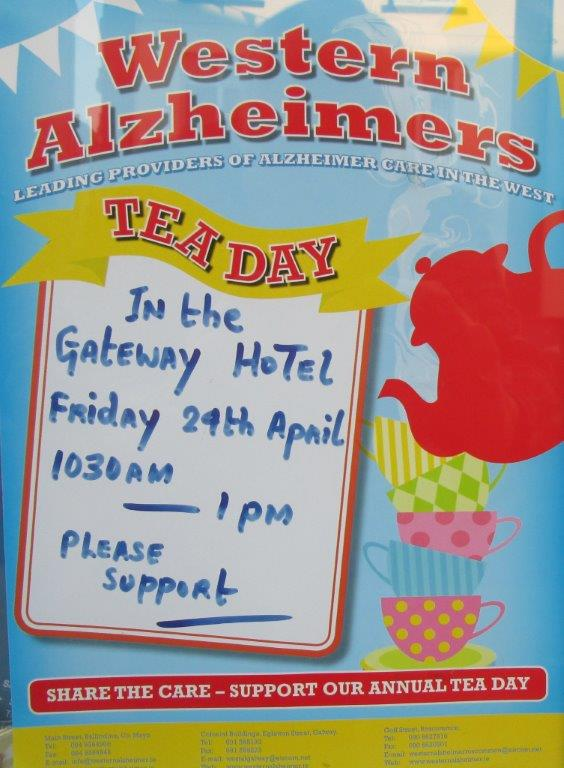 Western Alzeimers Tea Day Poster