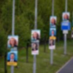 election posters blurred