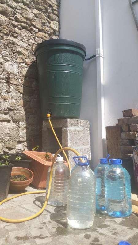 Rainwater harvesting project 250 litre water butt