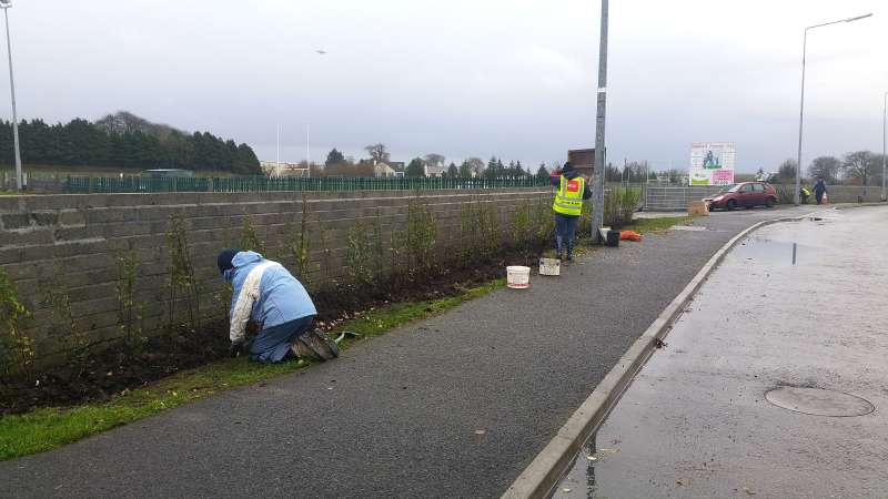 Swinford Amenity Park Wall project-