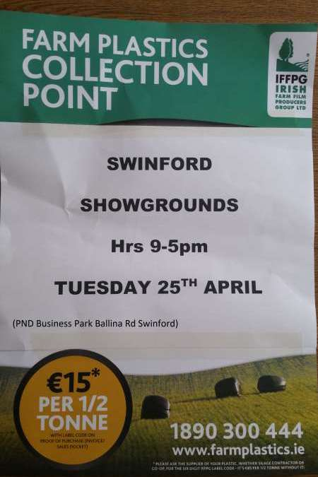 Farm Plastics Collection Swinford 25th April