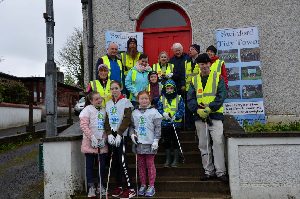 Swinford tidy towns 2017 national spring clean volunteers