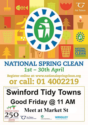 Swinford 250 national spring clean poster