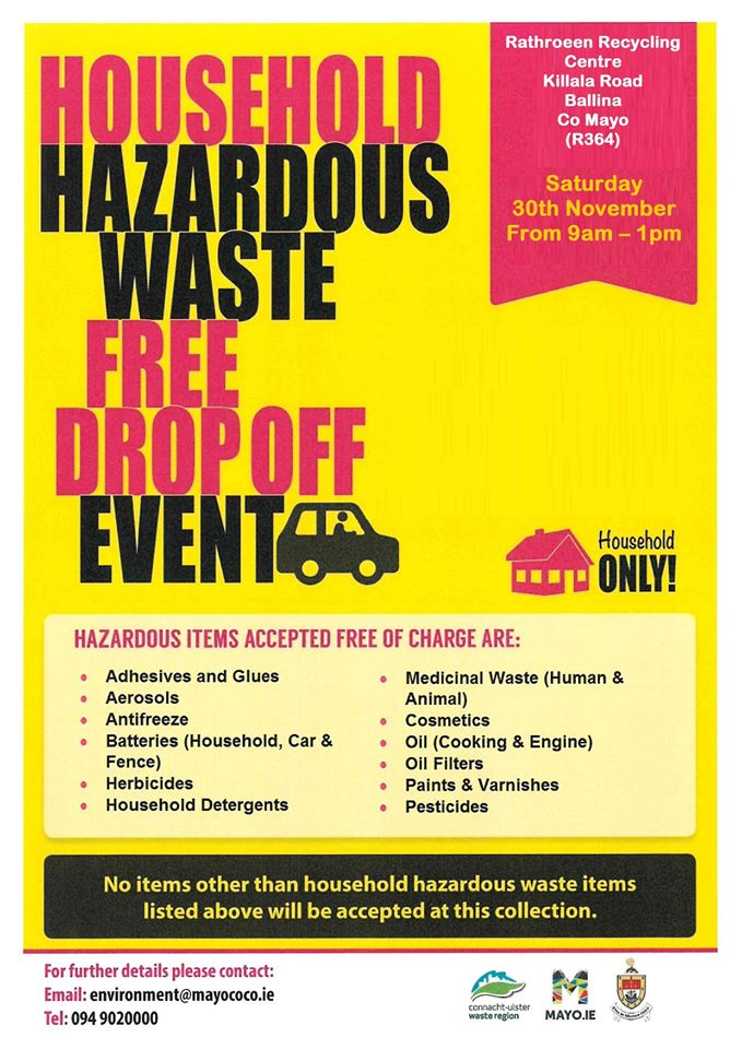 household hazardous waste drop off event poster
