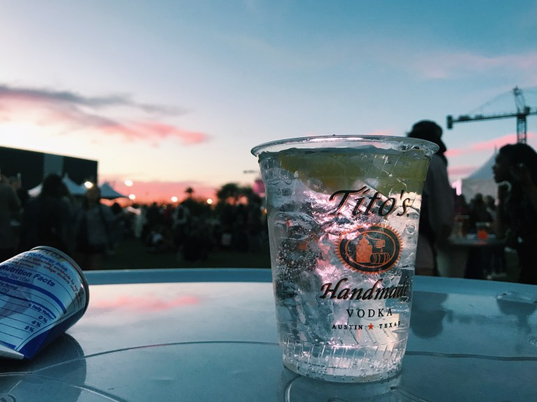 Tito's vodka and soda at McDowell Mountain Music Festival in Downtown Phoenix
