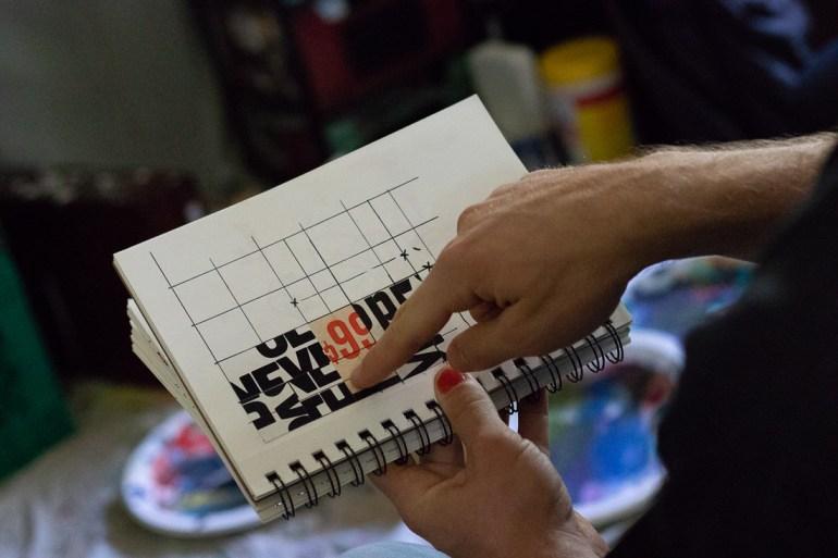 Inside Zanzucchi's sketchbook