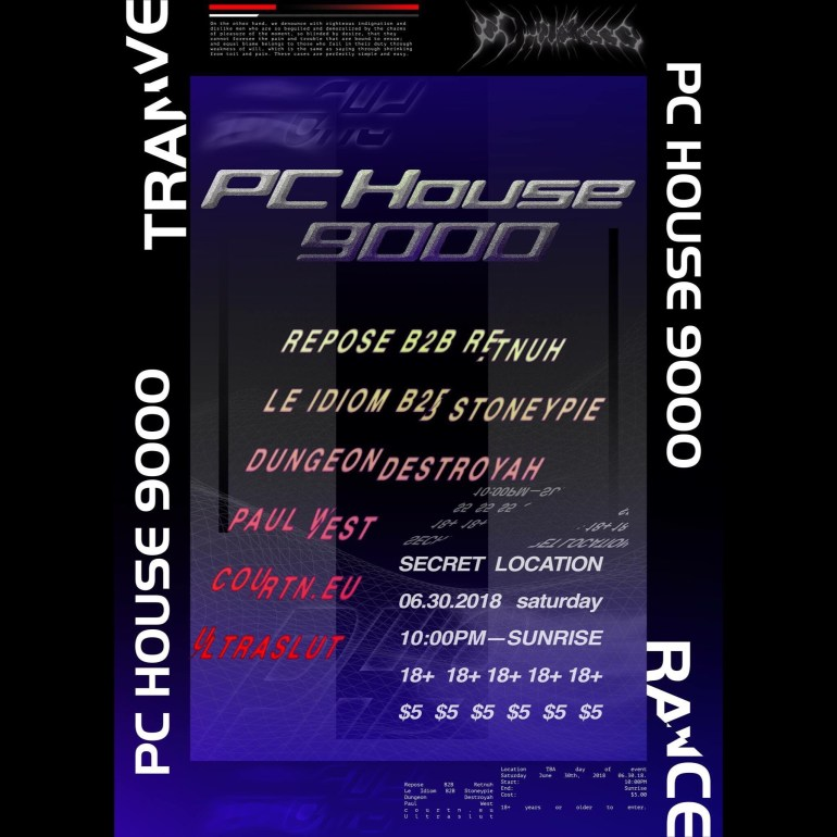 PC HOUSE 9000 Flyer