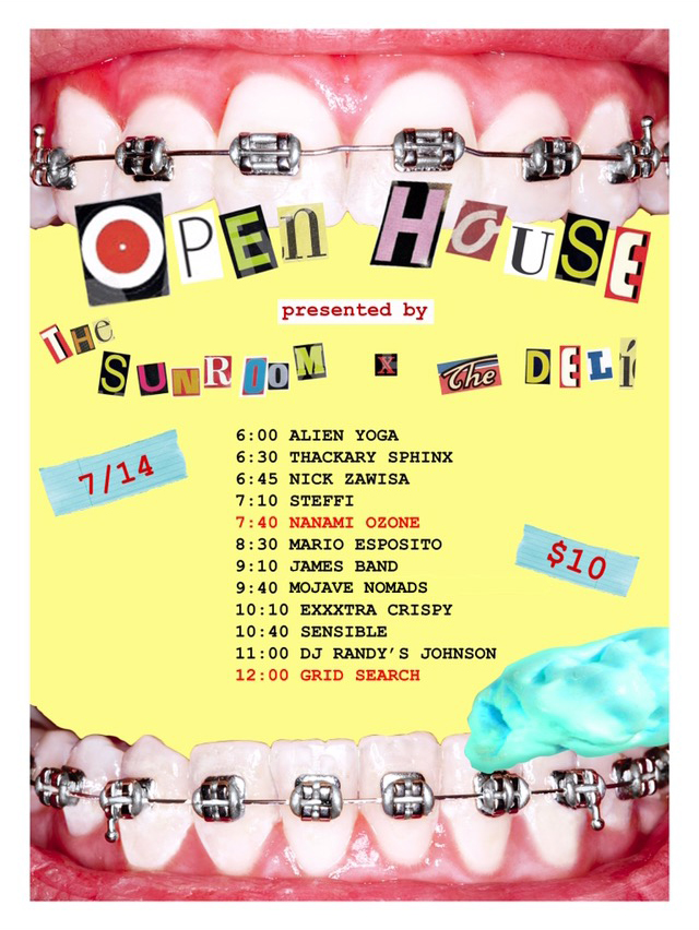 Open House Lineup Poster by Erica Dallman