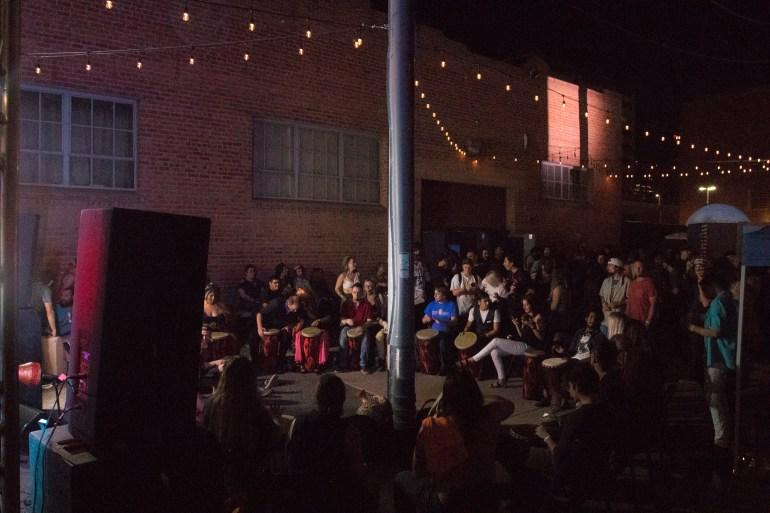 Drum Circle at Full Moon Festival Phoenix