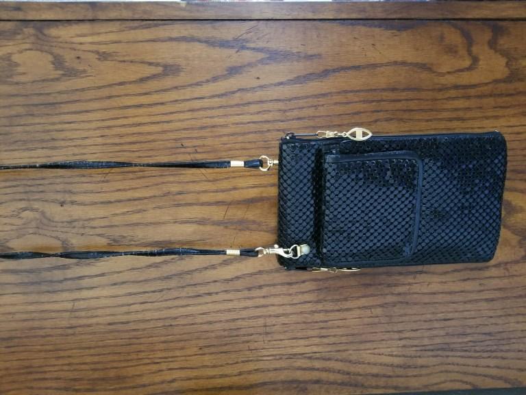 See more black metal mesh crossbody bag