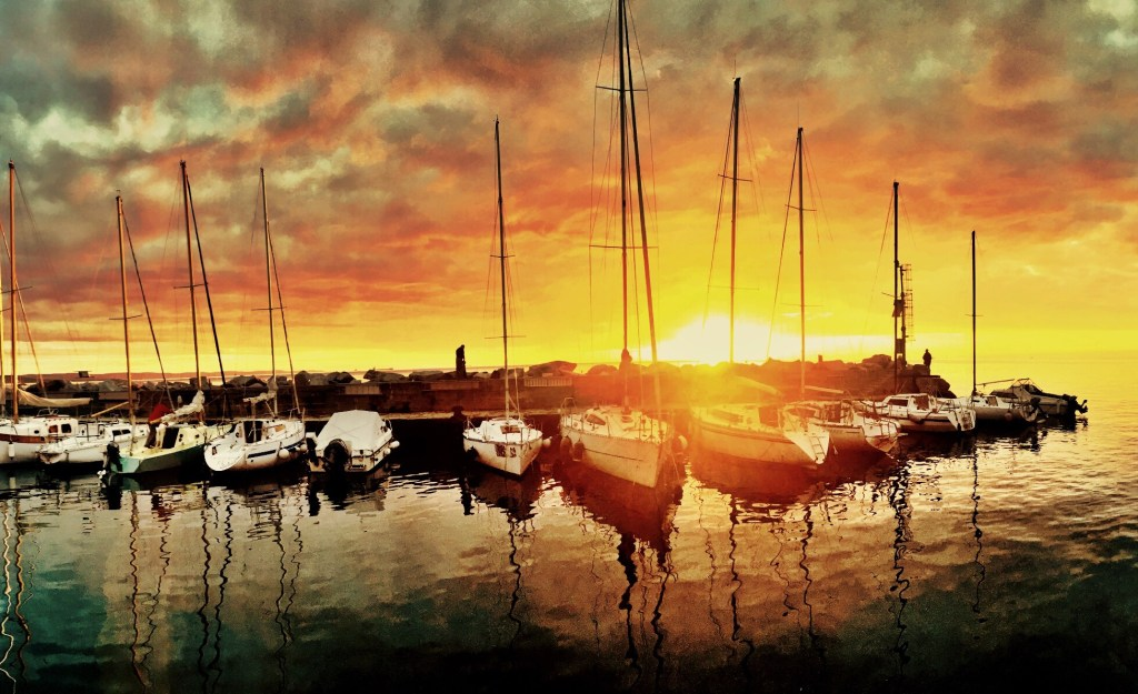 Image of boats on a harbor
