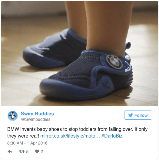 BMW Fall-proof kid shoes